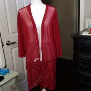 Red Sarong size 1X